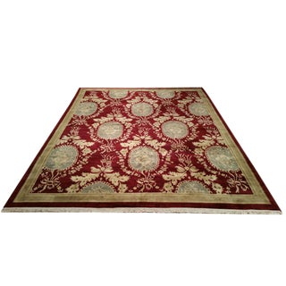 Modern Contemporary Hand Knotted Rug - 8′6″ X 11′6″ - Size Cat. 9x12