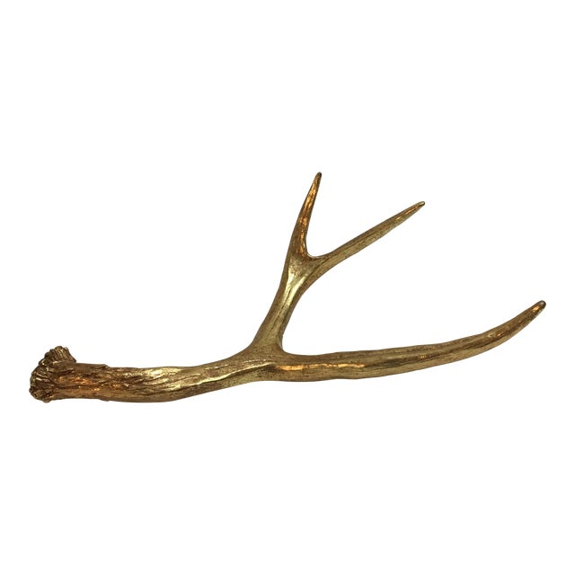 Painted Gold Sculptural Antler - Image 1 of 6