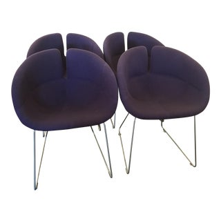 Patricia Urquiola Fjord Purple Chairs - Set of 4