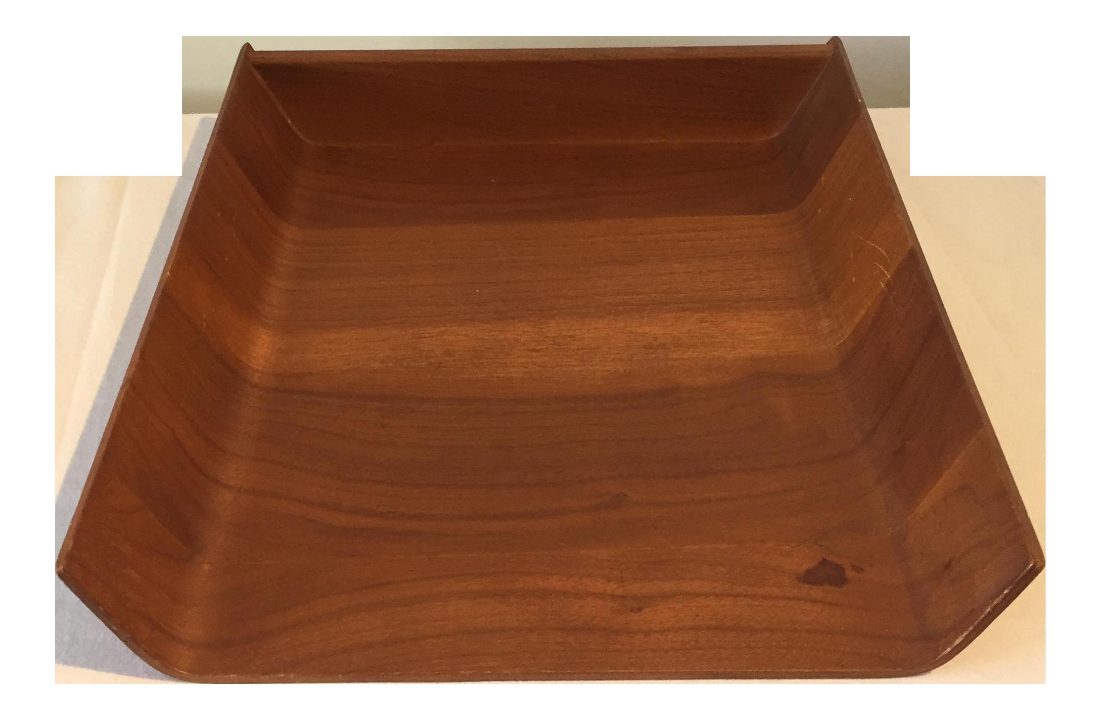 Knoll Mid Century Teak Paper Tray Chairish