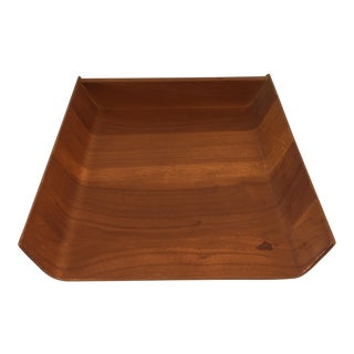 Knoll Mid-Century Teak Paper Tray