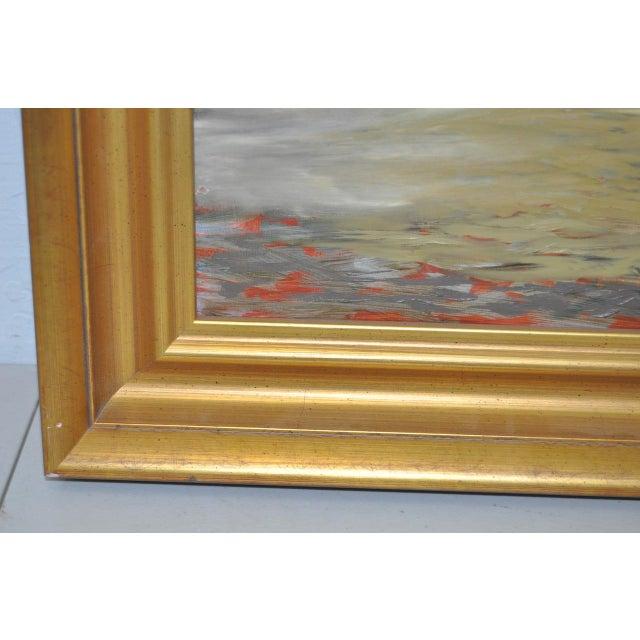 """Image of Frank Ashley """"Facade at Santa Cruz"""" Original Oil Painting"""