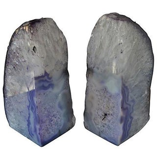 Lavender Geode Bookends - A Pair