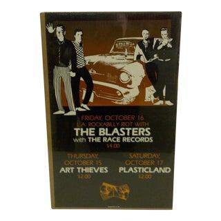 """""""L.A. Rockabilly Riot"""" 1981 Concert Poster"""