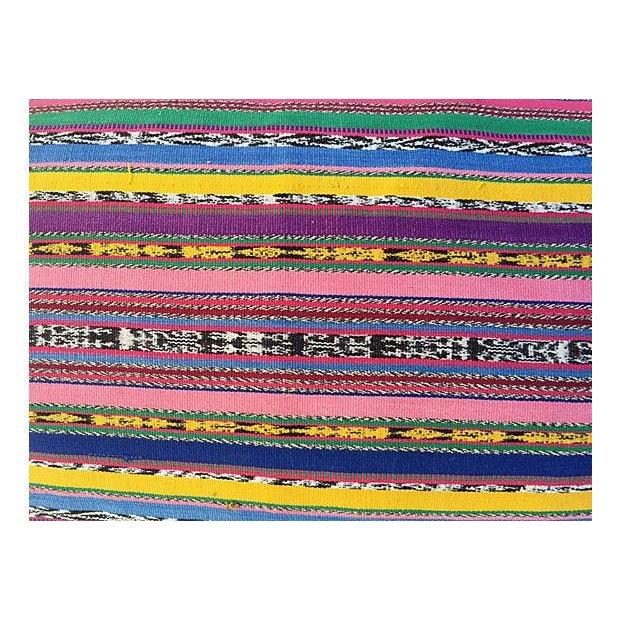 Guatamalin Ikat Colorful Pillow - Image 3 of 5