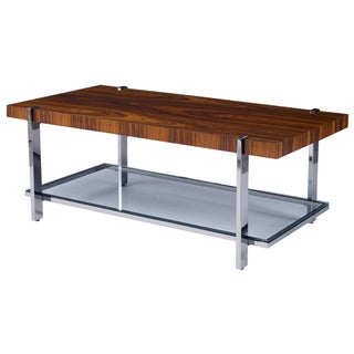 Kravet Mannerist Collection Rosewood & Chrome Cocktail Table