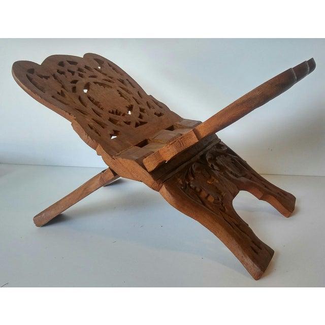 Vintage Carved Wood Book Stand - Image 4 of 7