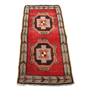 "Vintage Turkish Oushak Tribal Rug- 1'7"" x 3'4"""
