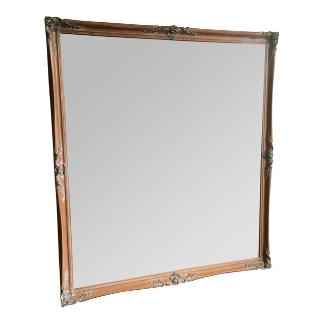 Large baroque mirror 44 x 50 chairish for Miroir 90x50
