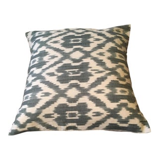Blue-Green Ikat Pillow