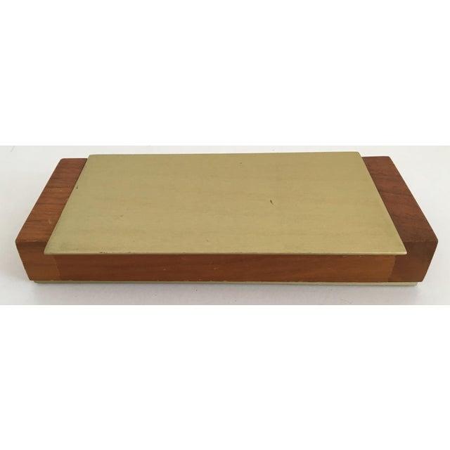 Image of Mid-Century Modern Gold Aluminum and Wood Box