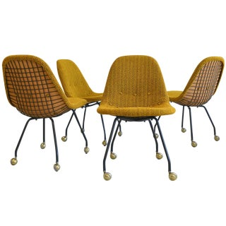 Early Charles Eames Wire Mesh Chairs - Set of 4
