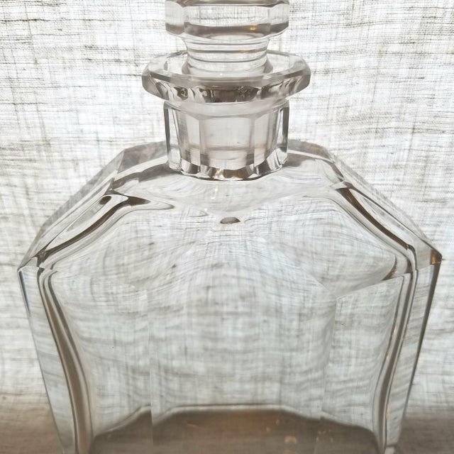 Vintage Geometric Crystal Decanter & Stopper - Image 3 of 8