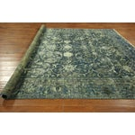 "Image of Oriental Overdyed Tabriz Floral Rug - 9'2"" x 10'2"