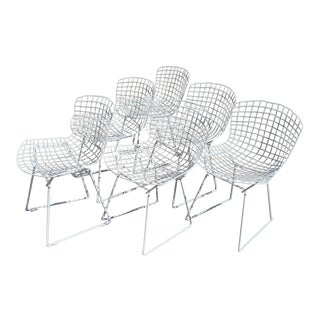 Harry Bertoia Wire Chairs - Set of 6