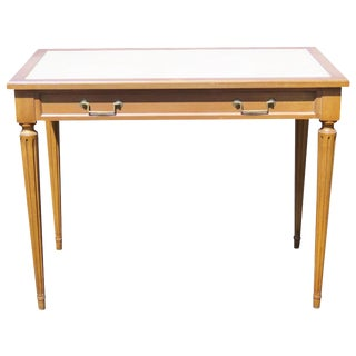 Directoire Style Leather Top Writing Desk