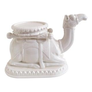 Fitz & Floyd White Ceramic Camel Candleholder