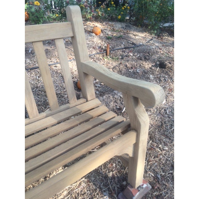 8' Teak Bench - Image 3 of 4
