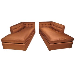 Early Pair of Harvey Probber Recamier Sofas