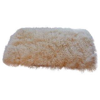 White Curled Haired Tibetan sheep Rug