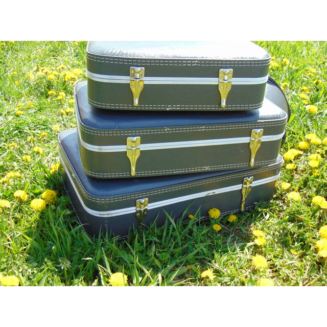 Vintage Suitcases - Set of 4 - Image 4 of 7