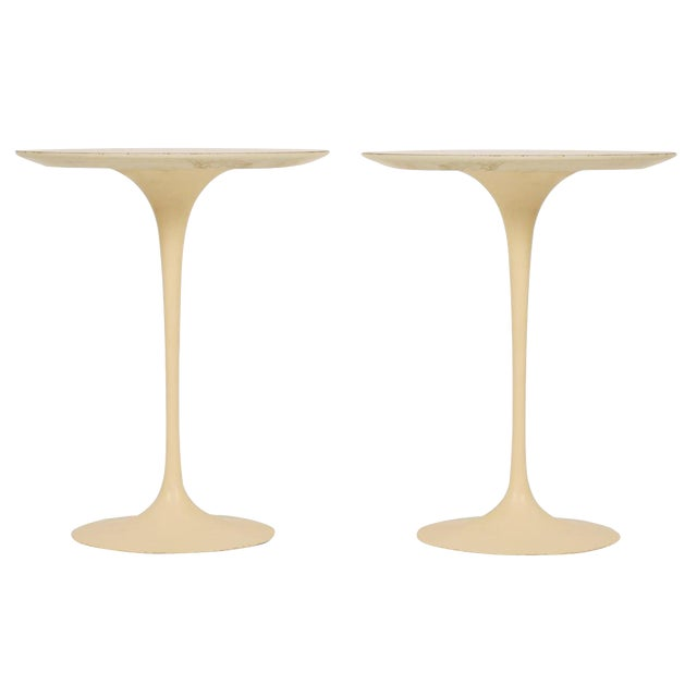 "Eero Saarinen for Knoll Cast Iron ""Tulip"" Tables - a Pair - Image 1 of 3"