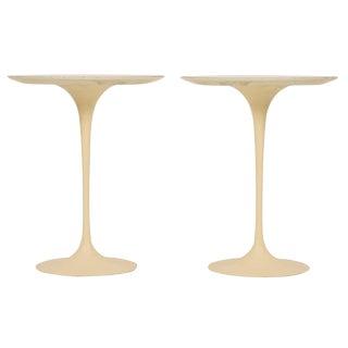 Eero Saarinen for Knoll International Cast Iron 'Tulip' Side Tables - a Pair