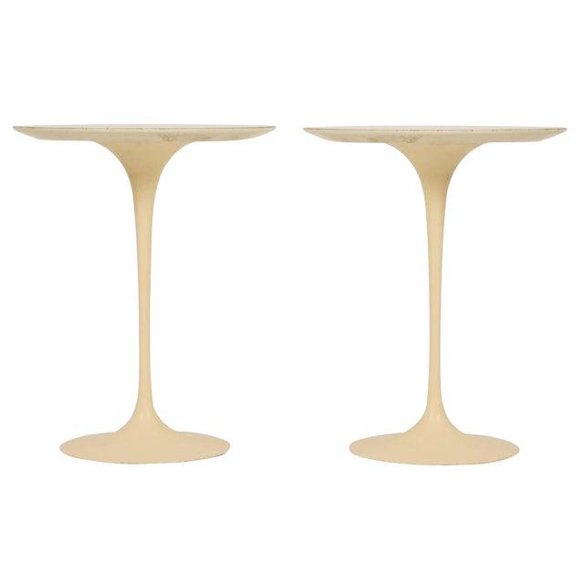 Eero Saarinen for Knoll International Cast Iron 'Tulip' Side Tables - a Pair - Image 1 of 3