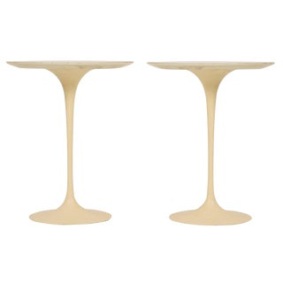 "Eero Saarinen for Knoll Cast Iron ""Tulip"" Tables - a Pair"