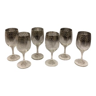 Dorothy Thorpe Mid-Century Silver Wine Glasses - Set of 6