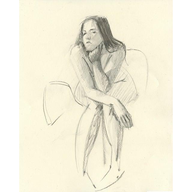 Image of Rae Thinking - Original Charcoal Drawing