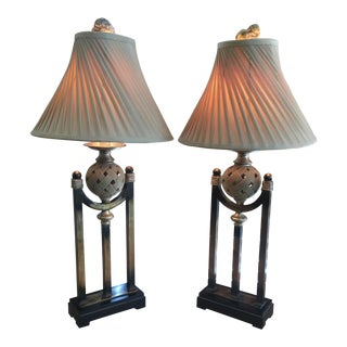 Uttermost Gold Tone Lamps - A Pair