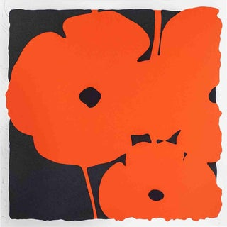 Donald Sultan-Red Poppies II-2007 Serigraph-SIGNED