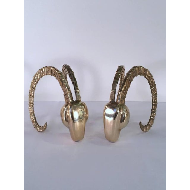 Pair of Brass Gazelle Bookends by Dolbi Cashier - Image 3 of 9