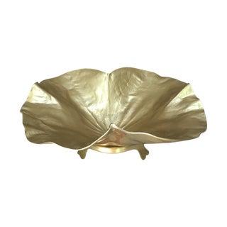 Large Brass Lotus Bowl W/ Stand