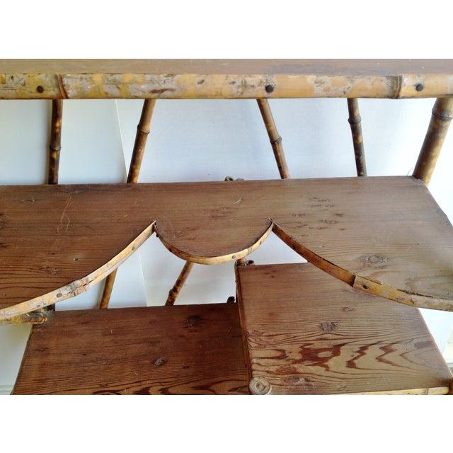 AntiqueTortoise Bamboo Display Shelf Bookcase - Image 5 of 6