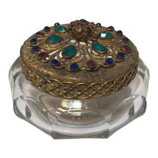 Vintage Jeweled Powder Jar