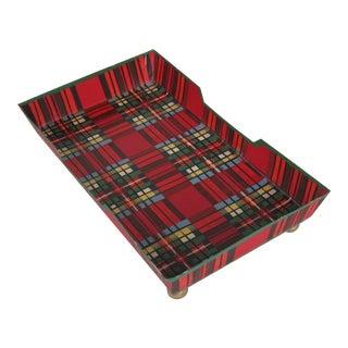 Red Plaid Hand-Towel Tray