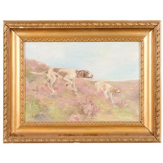 Hunting Hounds Oil Painting by L. Chantrelle
