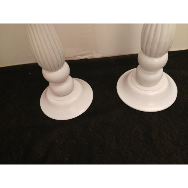 White Wooden Plant Stands - Image 4 of 6