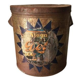 Antique Industrial Niagara Brand Tin