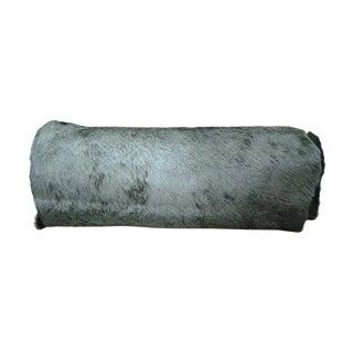 Blue Wildebeest Bolster Pillow