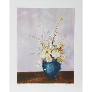 """Fioravanti, """"Blue Vase Floral,"""" Lithograph"""