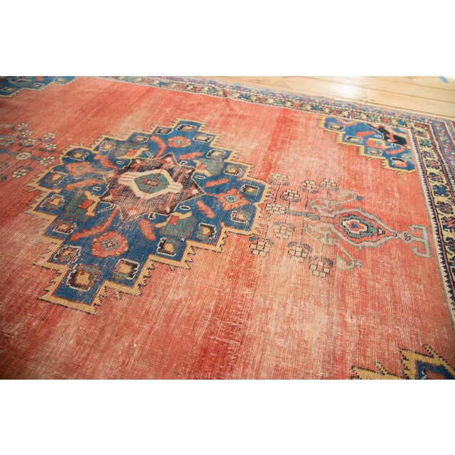 "Antique Afshar Distressed Rug- 4'5"" x 5'11"" - Image 4 of 7"