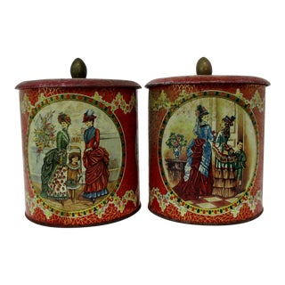 Vintage English Biscuit Tins - a Pair