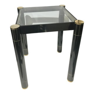 Early 1980s Karl Springer Gunmetal Side Table