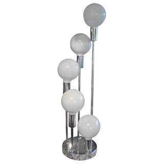 Mid-Century Modern 5-Light Chrome Table Lamp