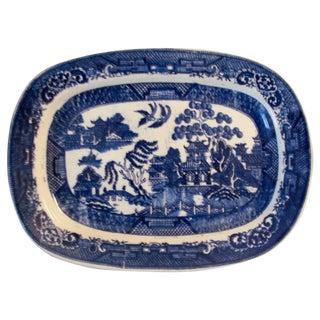 Antique Blue Willow Transferware Platter