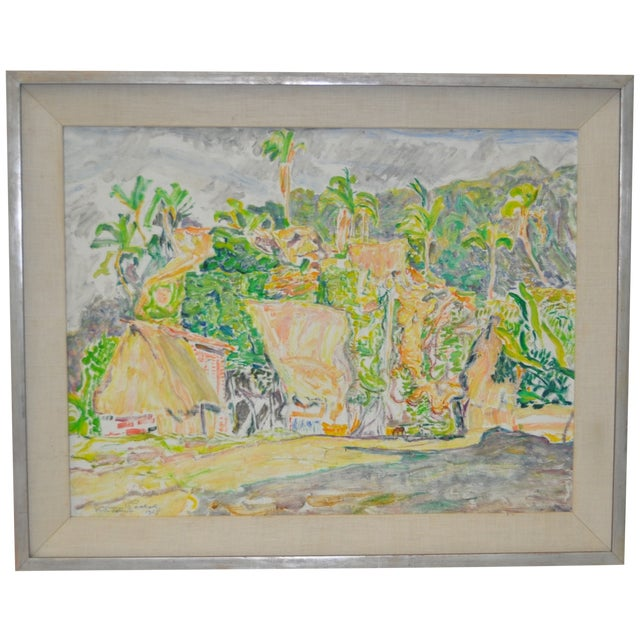 Image of Max Pollak (1886–1970) Puerto Vallarta Oil 1957
