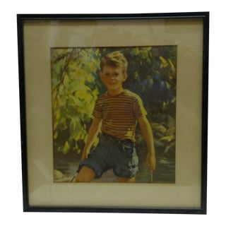 "Vintage Framed Print - ""Boy Outdoors"", 1940"
